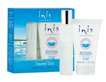 Inis Traveller Duo, Cologne Spray 15ml & Body Lotion 50ml